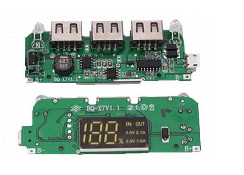 Power Bank Module Module-BQ-X7V2.0 5V 2.1A 3USB  Lithium Battery Charger Module 7X 2.1A 52V