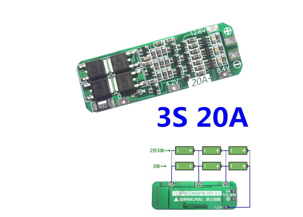 Power Bank Module 3S 20A 12.6V