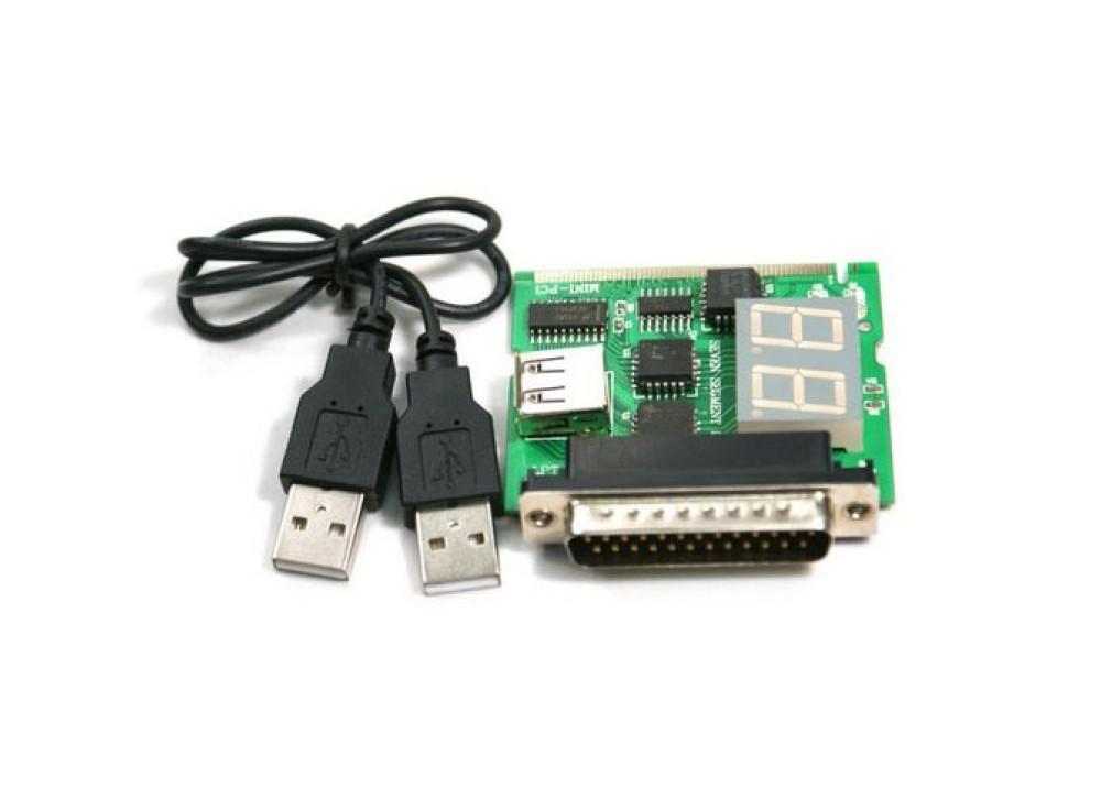 LAPTOP PCI Analyzer Tester Diagnostic 2LEDS USB & Parallel
