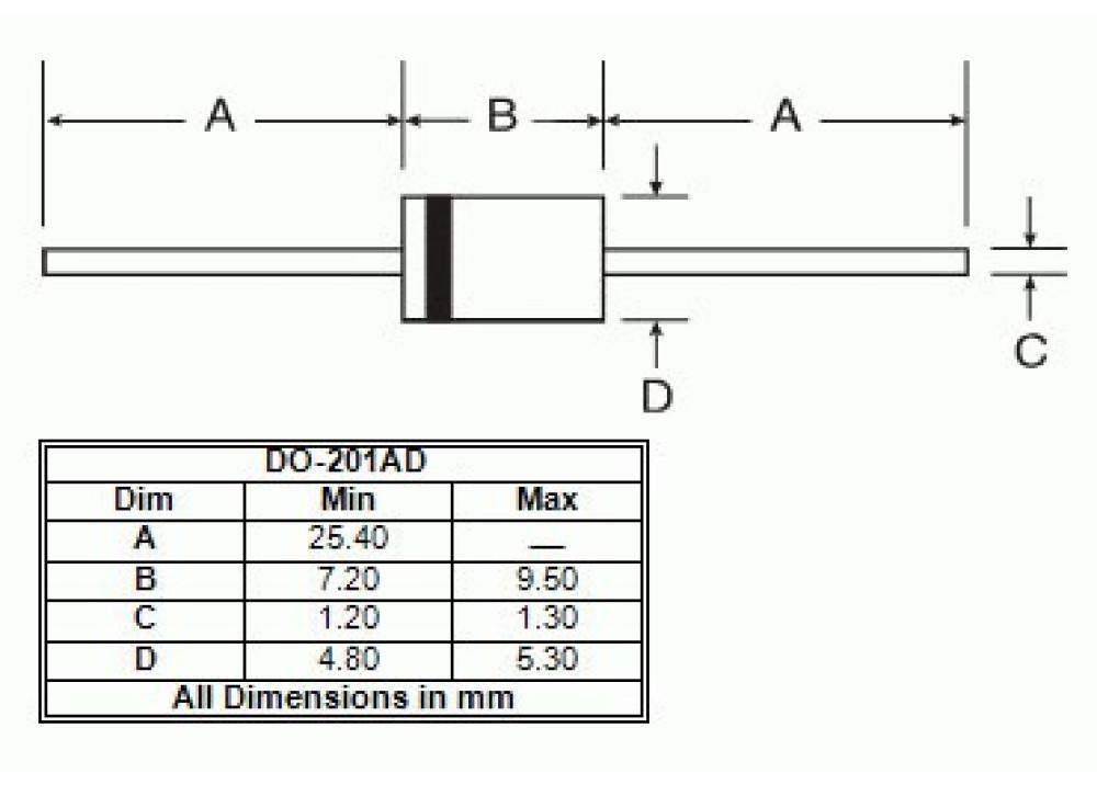 Zener Diode 1N5339B 5.6V 5watt DO-201AD