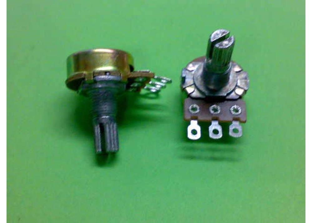 Carbon potentiometer WH148-1A1-T18-100K