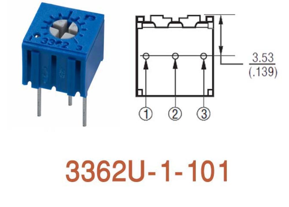 Cermet Trimming Potentiometer 3362U 100R