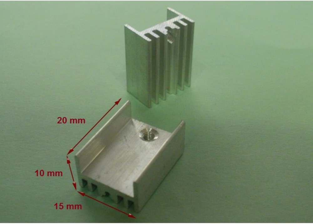 HEATSINK 20x15x10mm TO-220