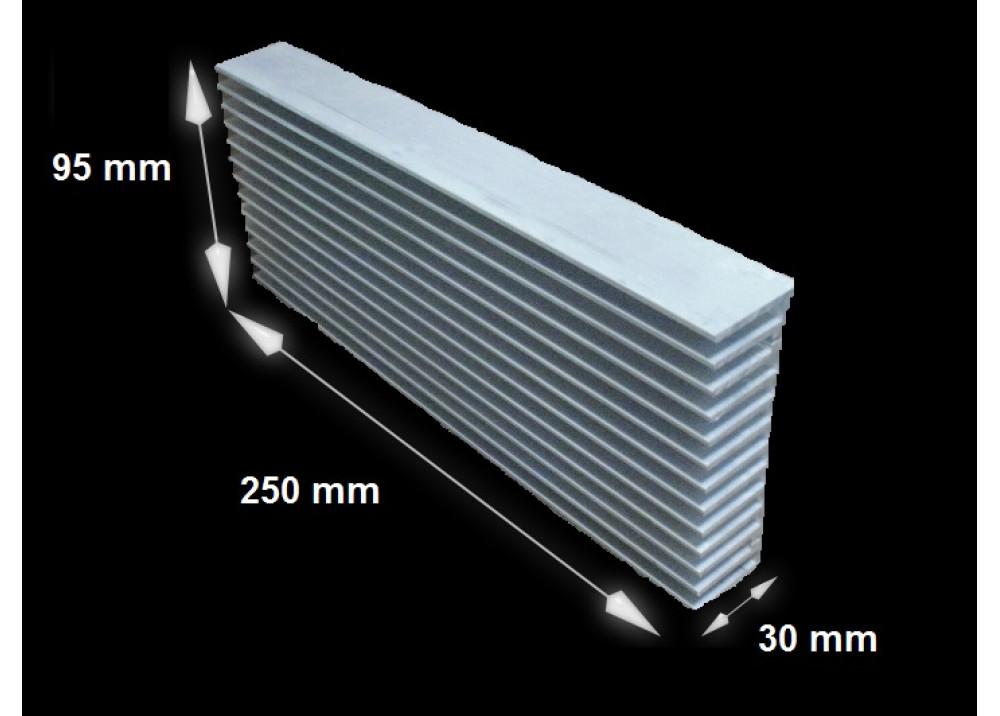 HEATSINK 95x250x30mm