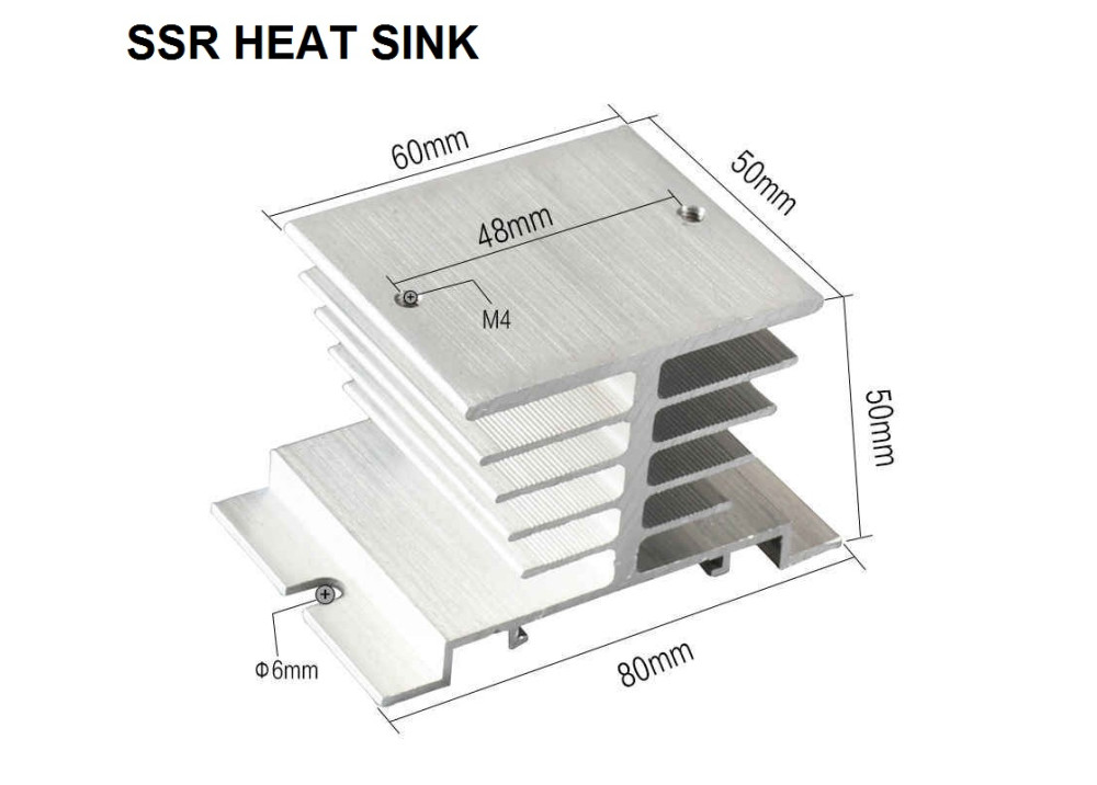 HEAT SINK SSR HF92B-80