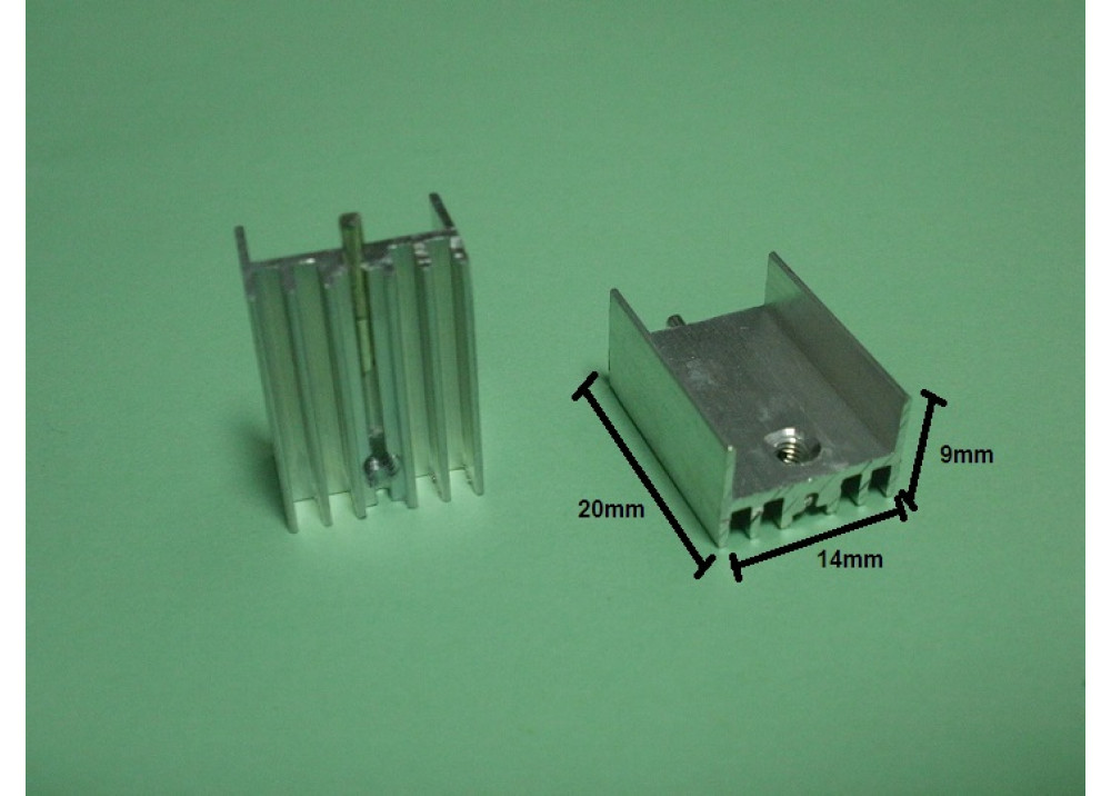 HEAT SINK   20x14x9mm TO220