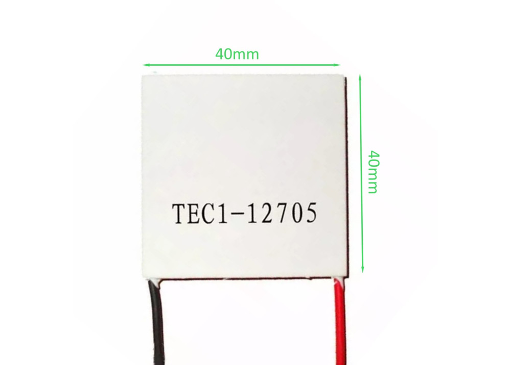 Thermoelectric Cooler Peltier TEC1-12705 4x4x3.8Cm
