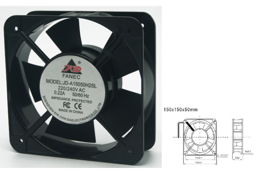 FAN JD-A15050H2SL 150x150X50mm 220V