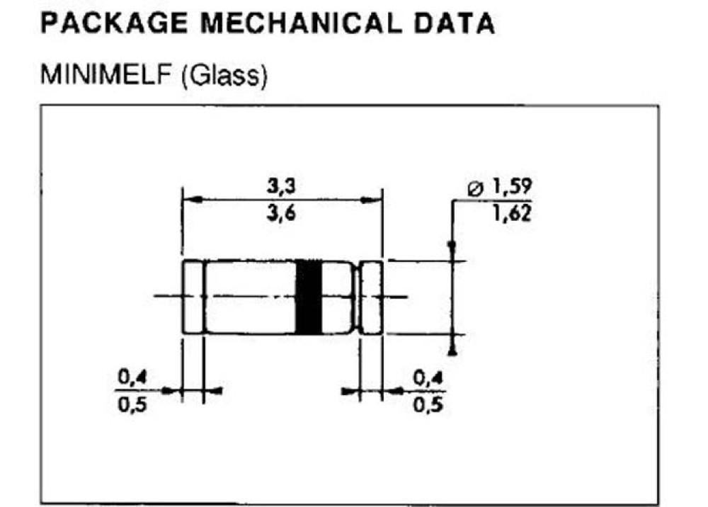 SMD ZENER Diode BZV55C3V9 3.9V DO89