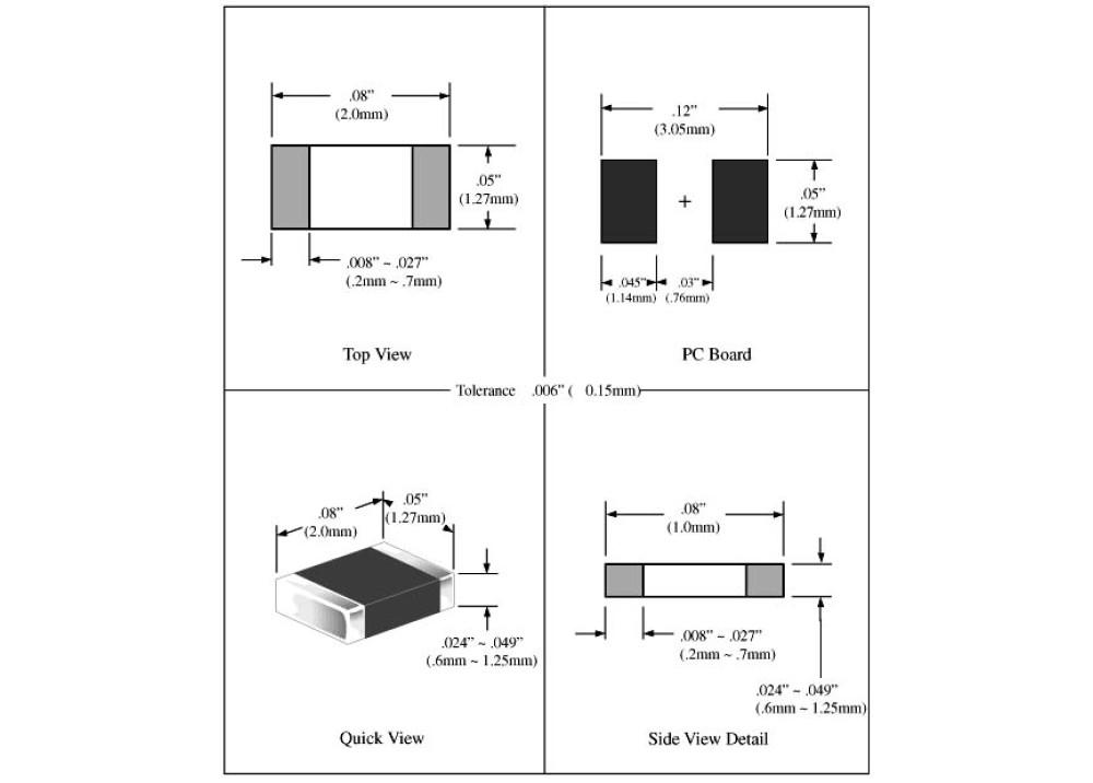 SMD Capacitor 0805 0.25PF