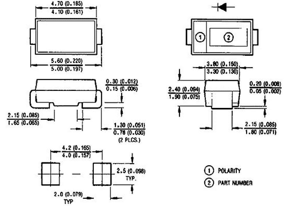 SMD Diode Suppressors-SMBJ5.0CA-TR  5V 68A 600W DO-214AA