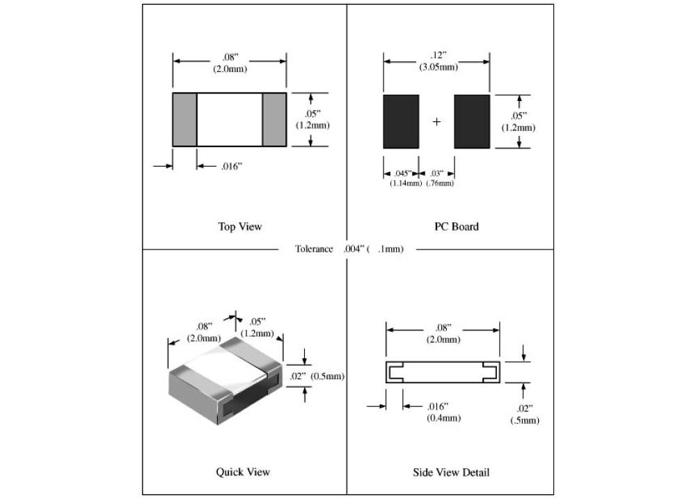 SMD Resistor 0805 7.5M