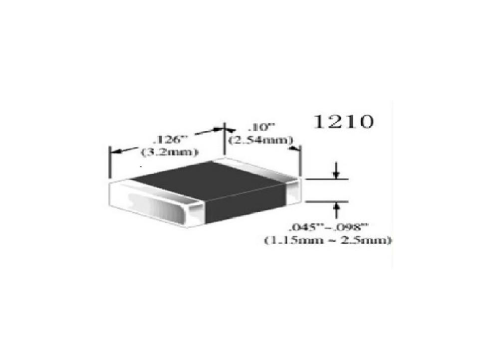 SMD Resistor 3225=1210 1/3W 10R