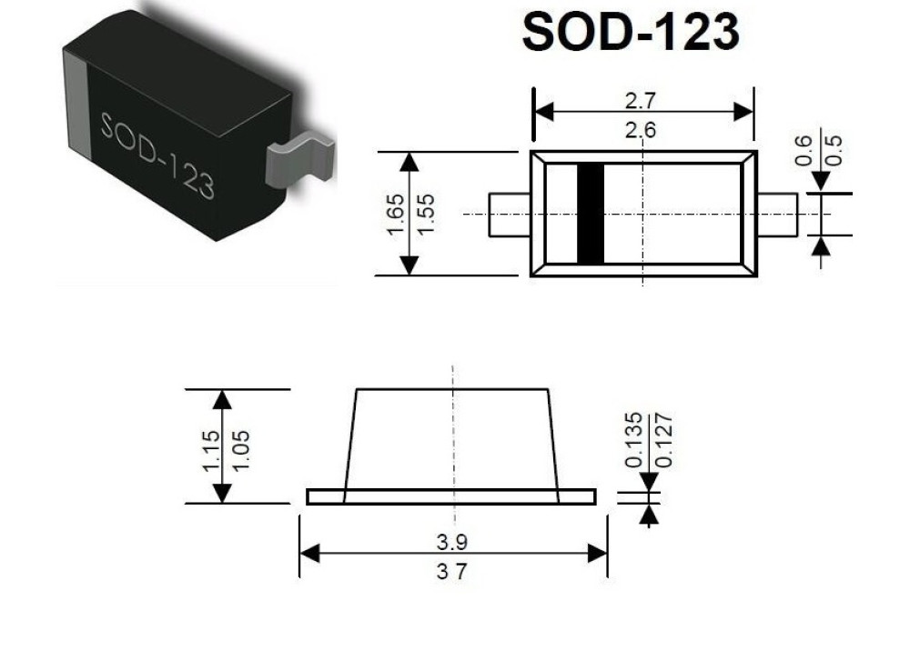 SMD DIODE 1N4148W-7-F 100V 150mA 4nS SOD-123