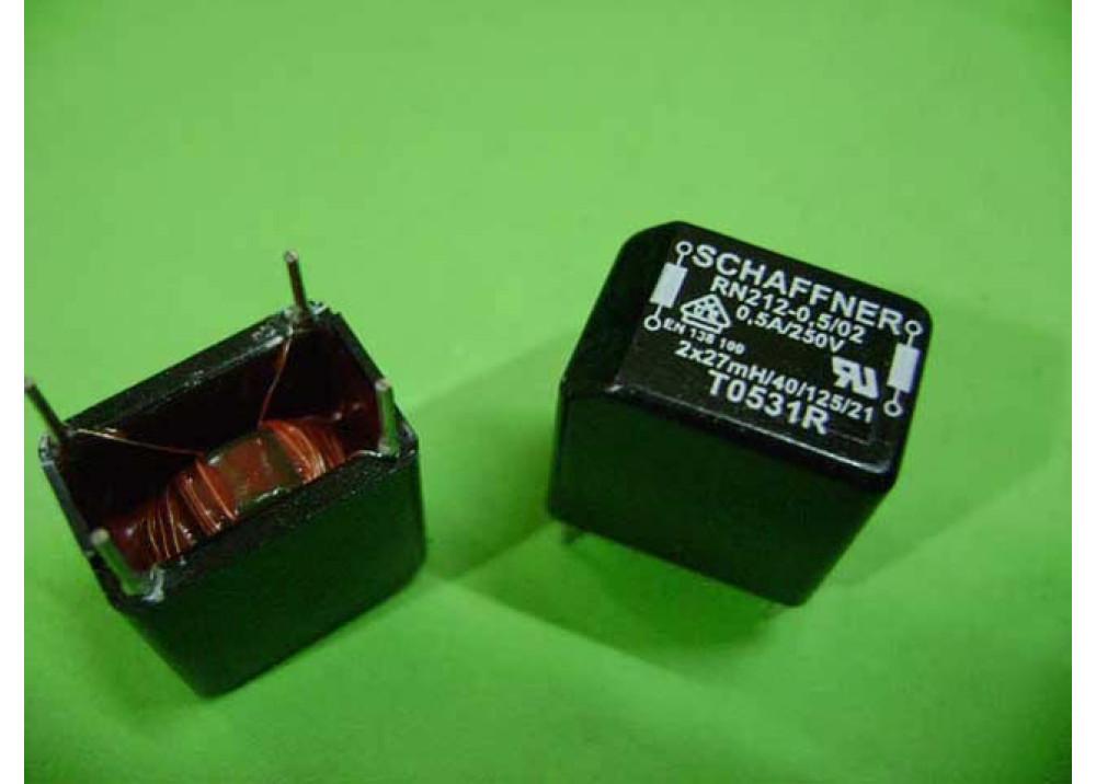 COIL CHOKE RN 214- 0,8/02  2x27MH  0.8A 250V