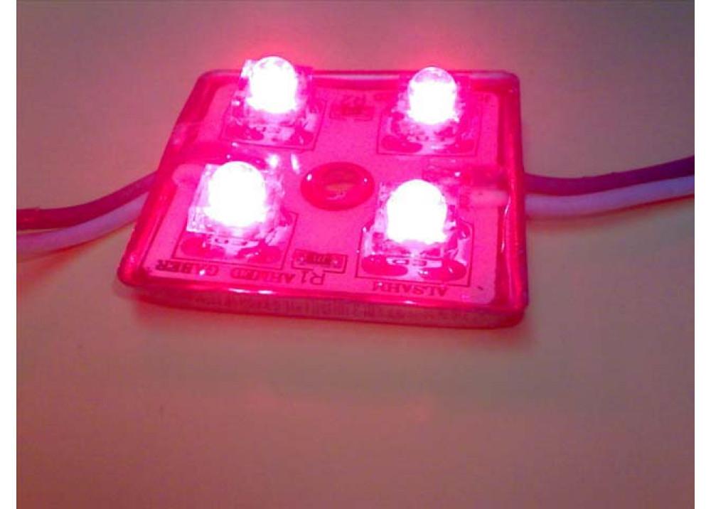LED 4 LEDs SQUARE RED