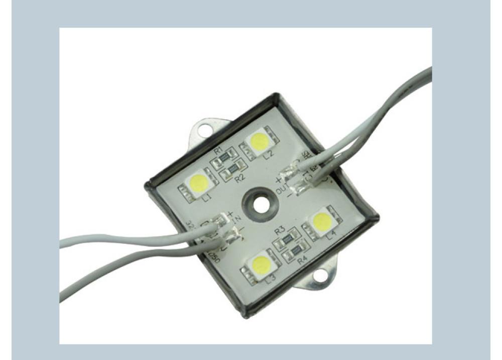 LED 4 LEDs SQUARE WHITE