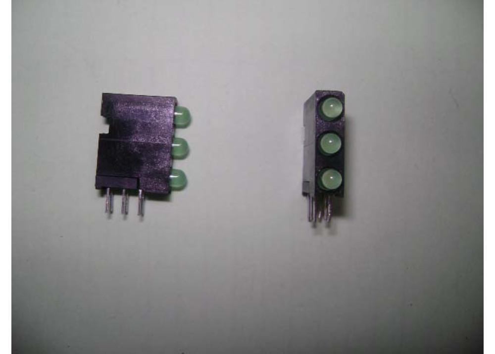 LED 3MM GREENx3