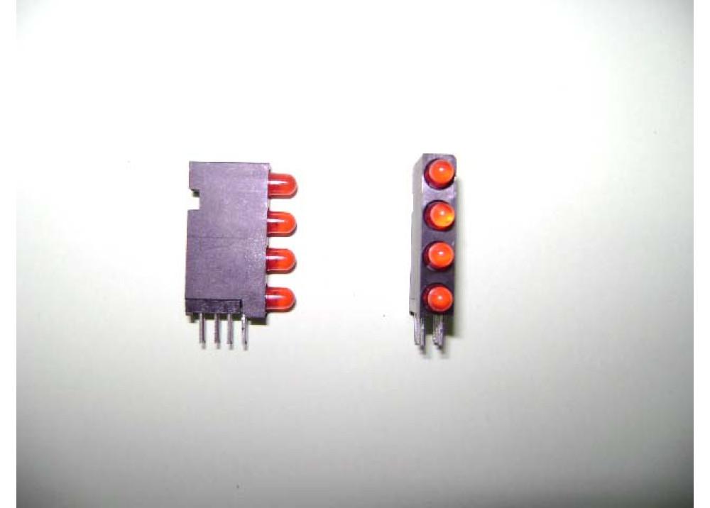 LED 3MM REDx4