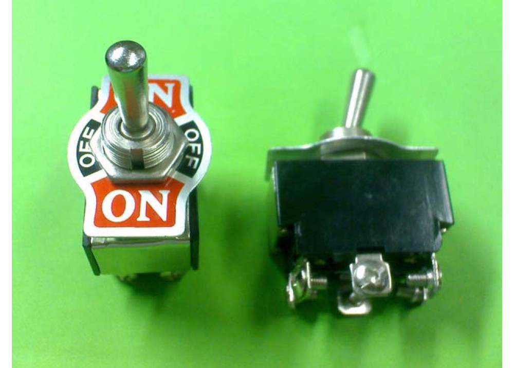 Toggle Switch DPDT ON OFF ON 6A  250V 6P