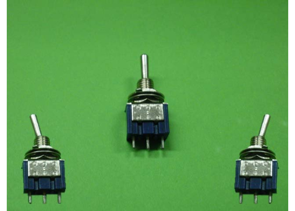 Toggle Switch 3P ON-OFF-ON SPDT 3A 250VAC 3 Positions