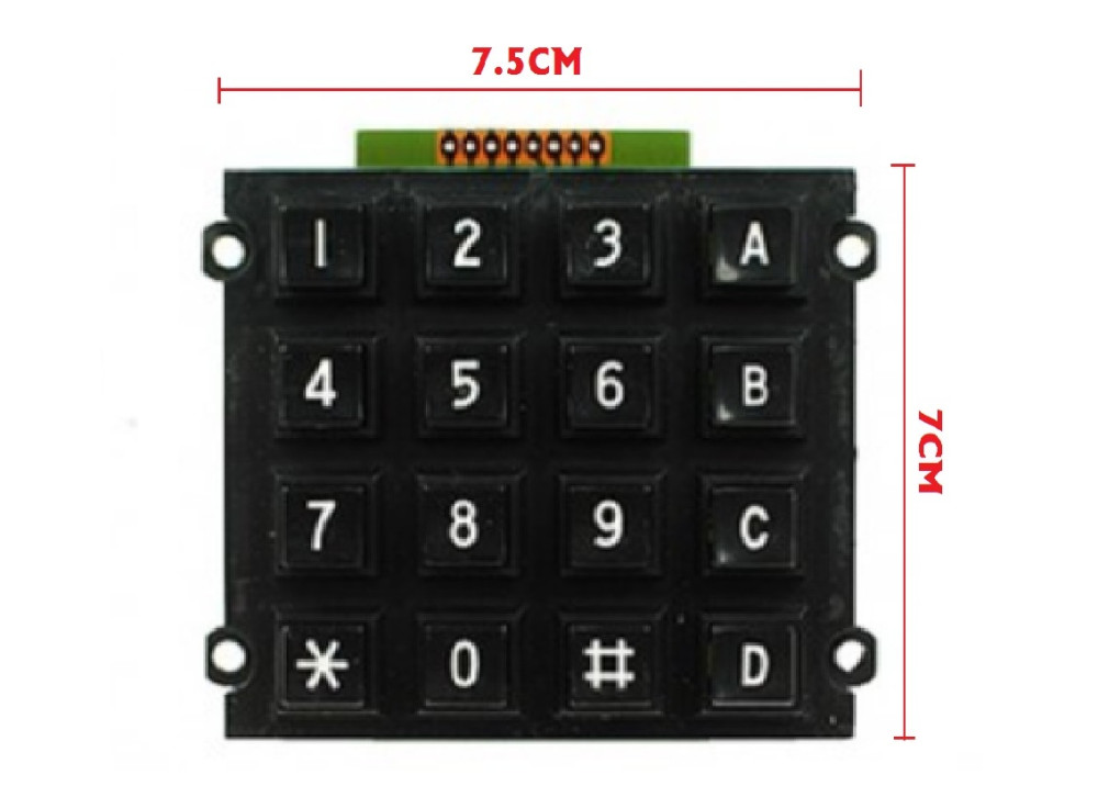 MATRIX KEYPAD + ABCD 4X4