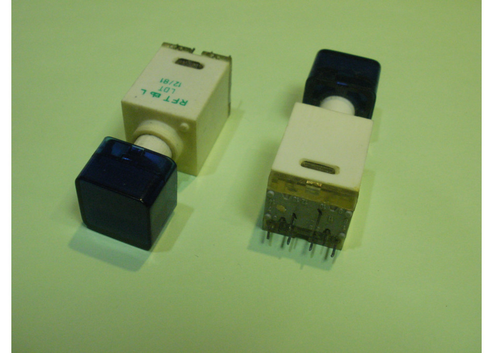 Blue  Momentary Push Button Switch Panel  12mm 8P