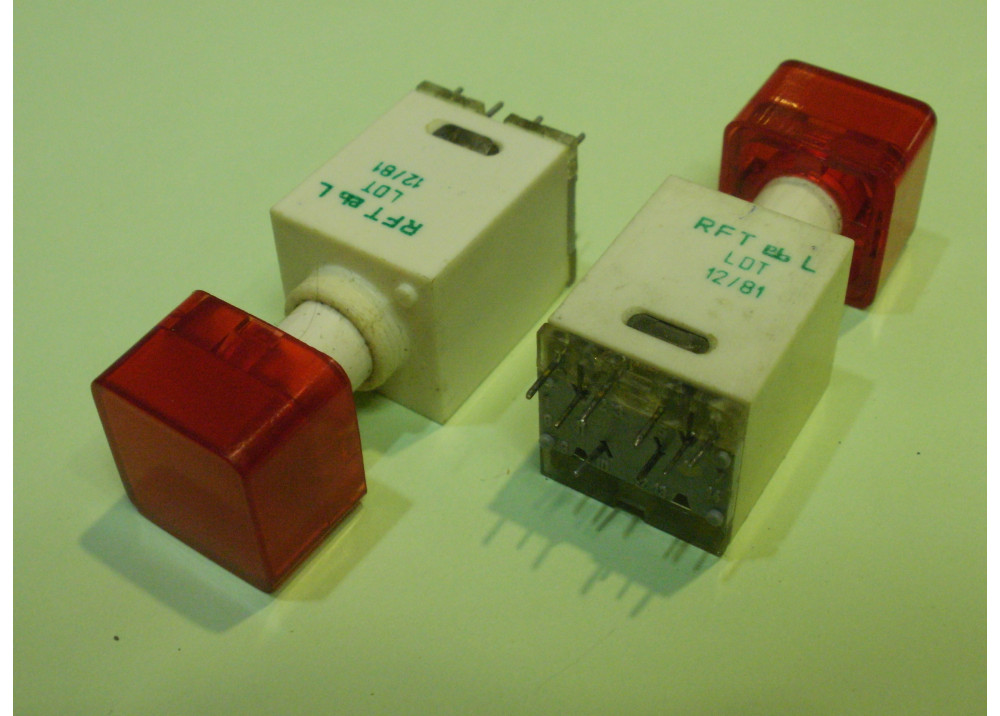 Red  Momentary Push Button Switch Panel  12mm 8P