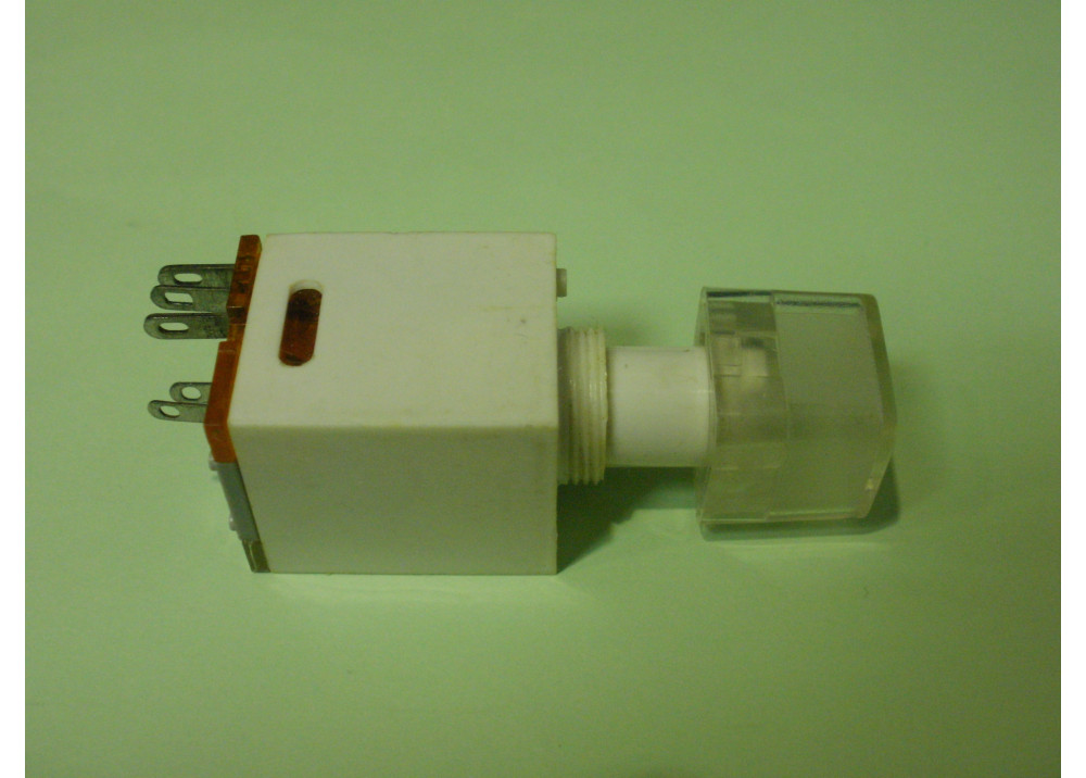 White  Momentary Push Button Switch Panel  11mm 5P