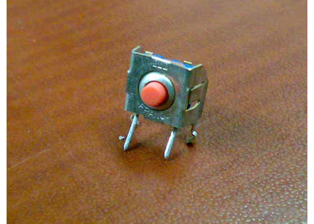 KSI0V410 Momentary Tact Switch 90 degree bend Black 6X6X4mm 2P