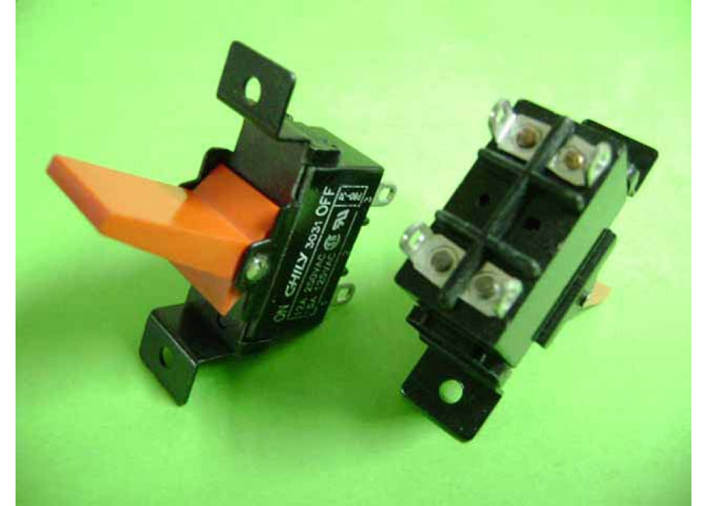 TOGGLE POWER SWITCH  SPST 12A 250VAC 4P