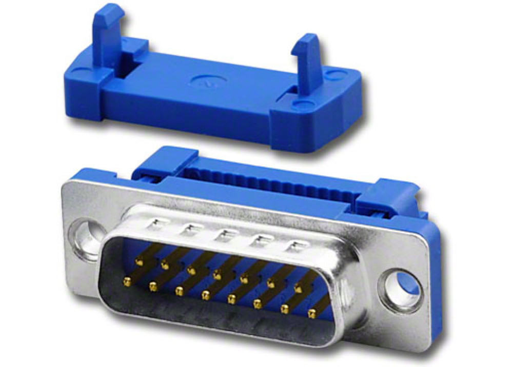 Male D-Sub IDC Connector 15P  Metal Face  Wire To Wire