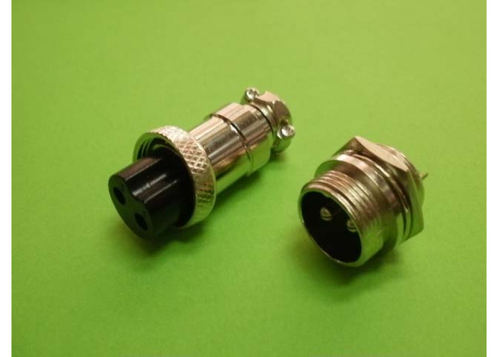 GX16-2 circular connector Socket Plug 2PIN Wire To Wire