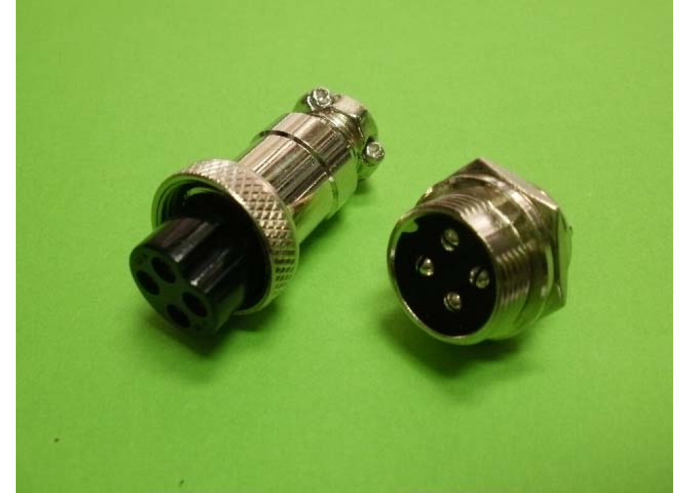 GX16-4 circular connector Socket Plug 4PIN Wire To Wire