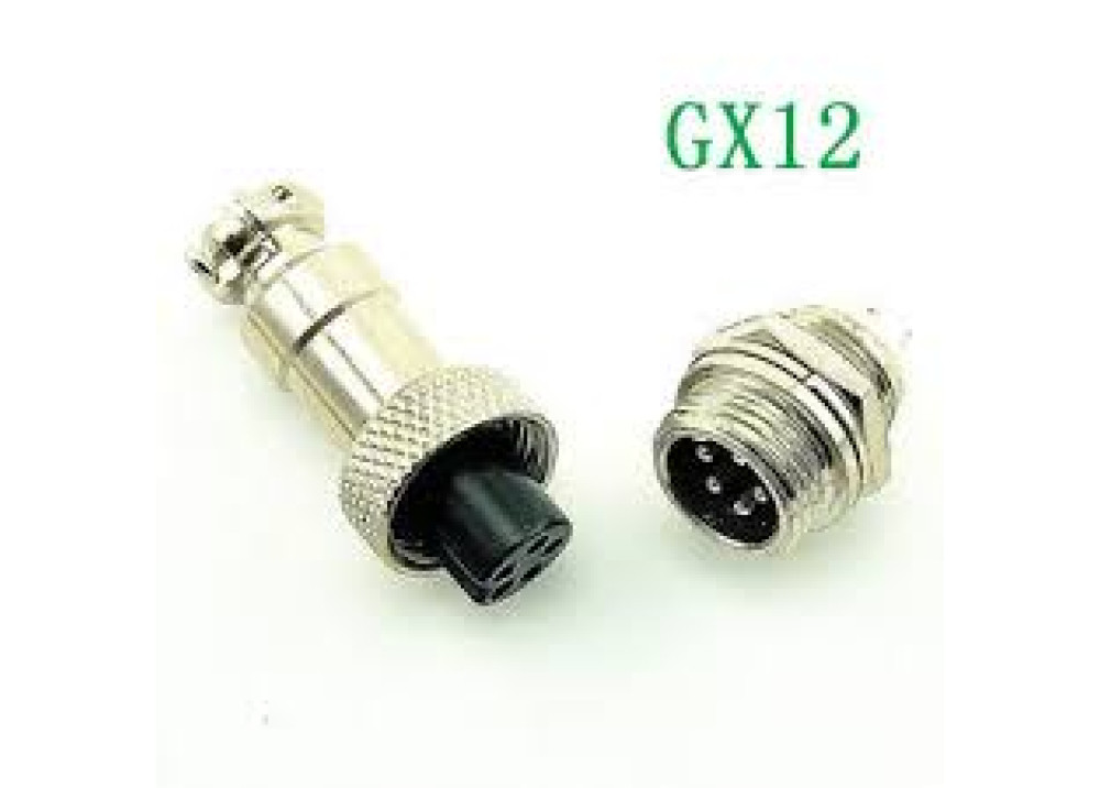 GX12-5P circular connector Socket Plug 5PIN Hole Size:12mm    Wire To Wire Aviation