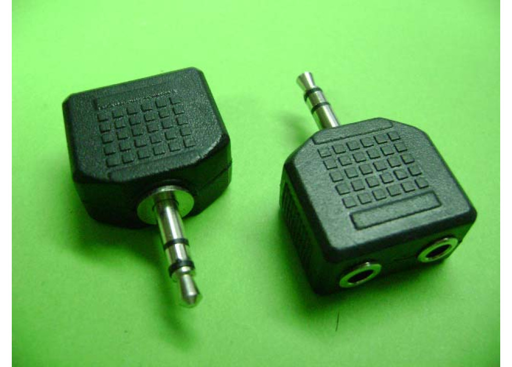3.5mm Stereo Jack Plug to 2 x Socket - Headphone Splitter Adapter