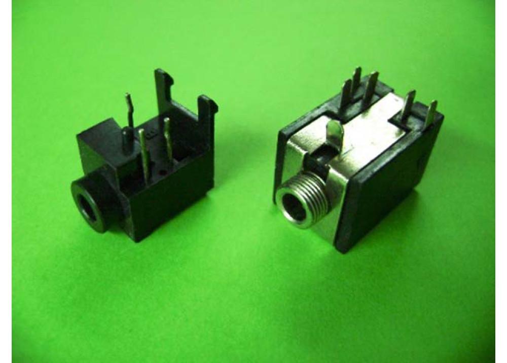 Jack 3.5mm Female Audio Stereo Socket Right Angle PCB
