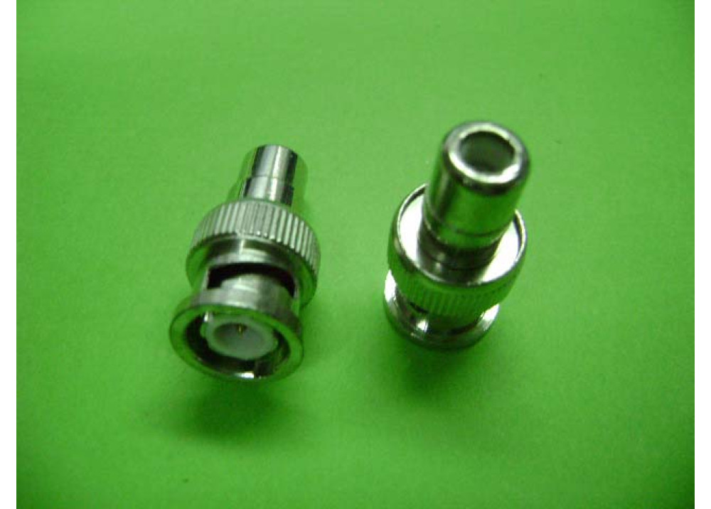 Adapter, BNC Male To RCA Female   Wire To Wire