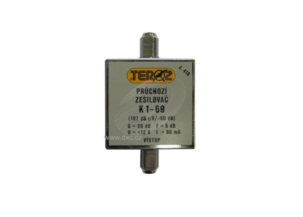 Antenna broadband power amplifier with 20 dB gain