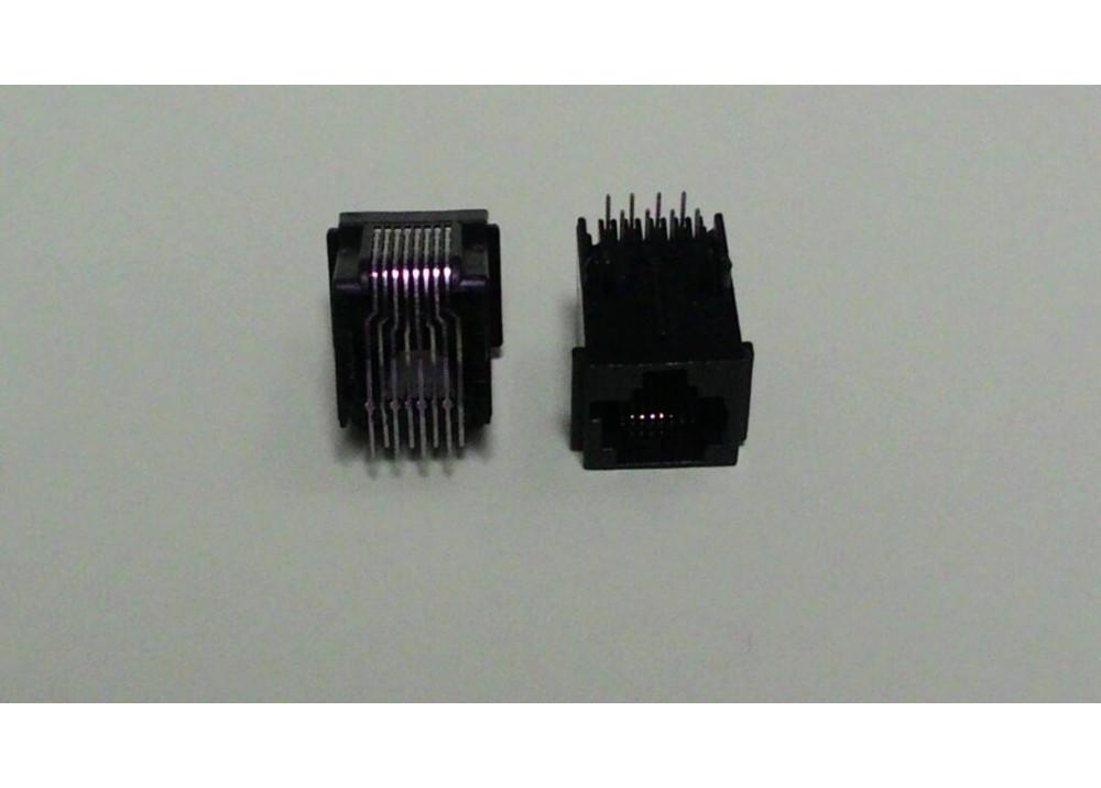 JK CONNECTOR RJ45 8P RIGHT ANGLE PCB PLASTIC