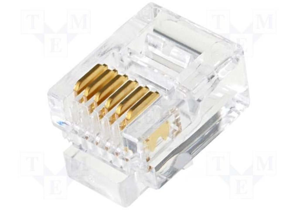 Plug RJ12 6P/6C