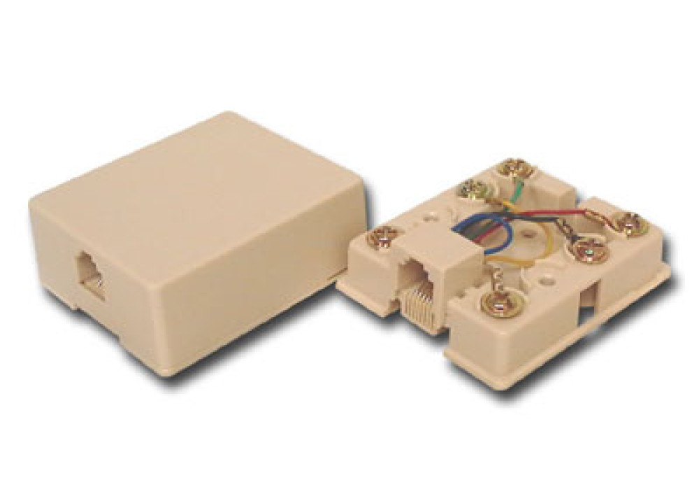 RJ11 Singel surface mount box