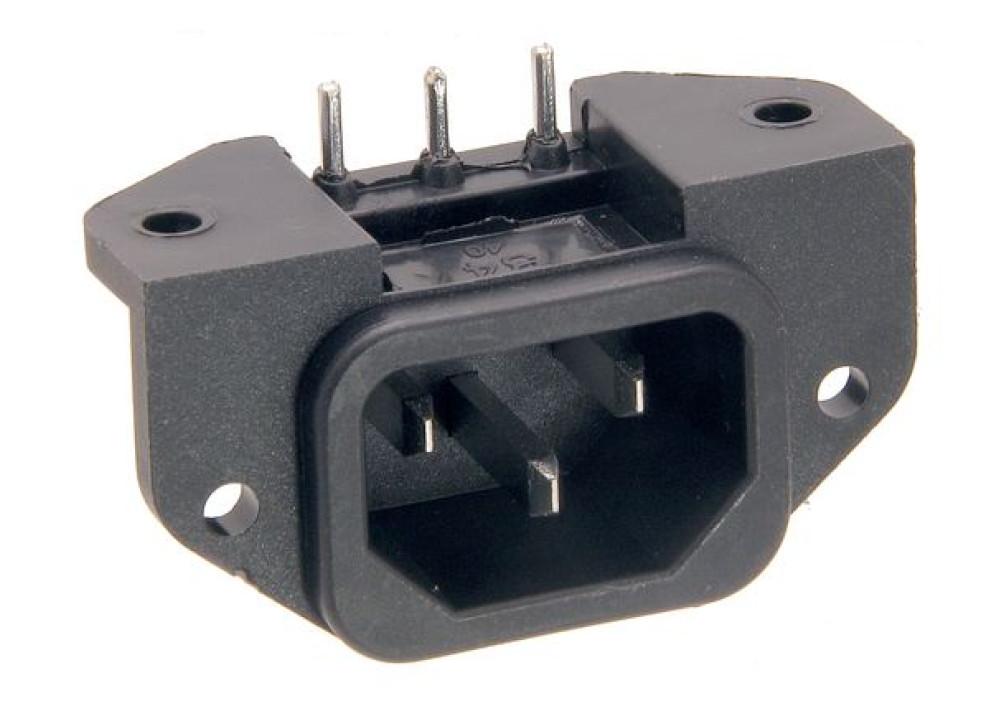 AC Power Male Panel Mount PCB