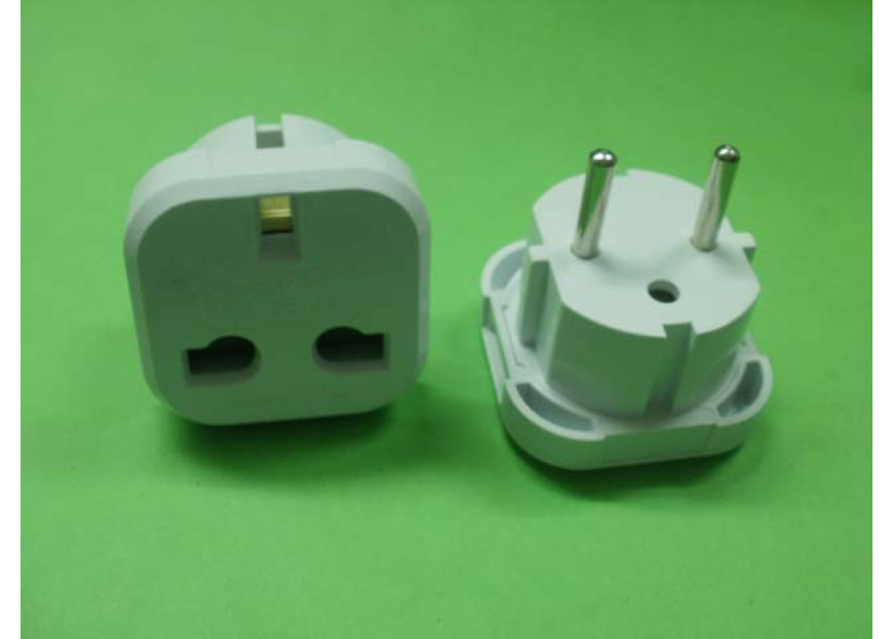 UK to EU AC Power Plug Adaptor
