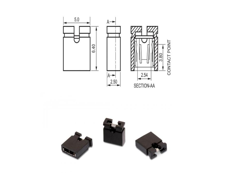 Mini Jumper Female 2.54mm Pich