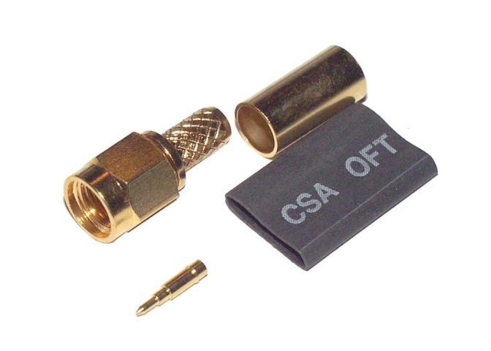 SMA1111A2-3GT50G-G-50  RG58 Crimp SMA male connector