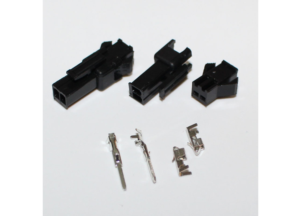 JST SM 2.5mm 2-Pin Male, Female Connector Plug