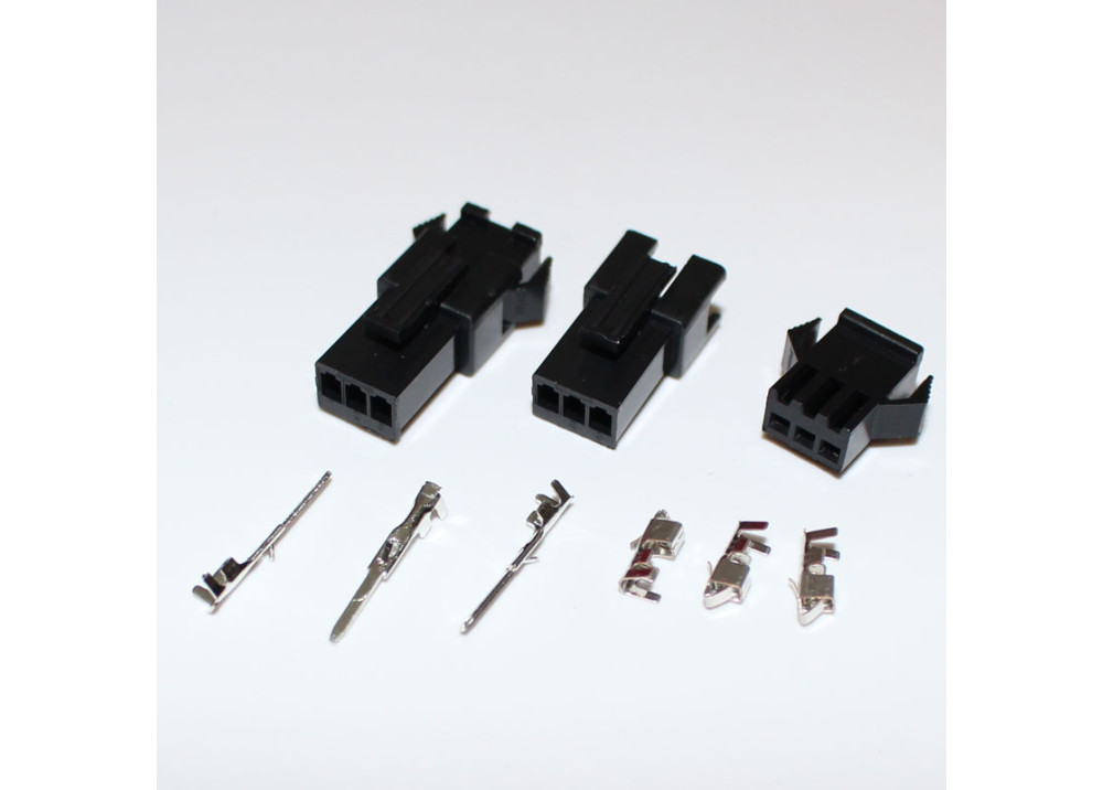 JST SM 2.5mm 3-Pin Male, Female Connector Plug