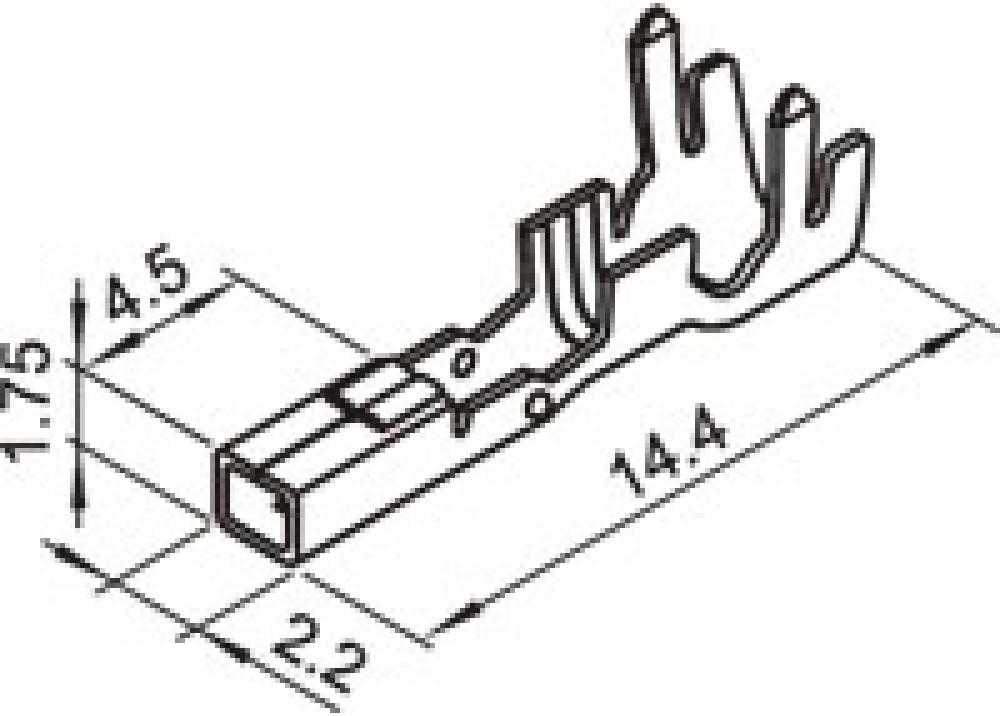 Headers & Wire Housings AMP POWER DBL LOCK 177915-1
