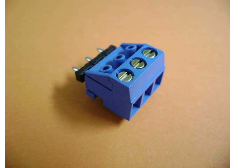 PCB Screw Terminal Blocks 5mm 3P Pin Strip type blue